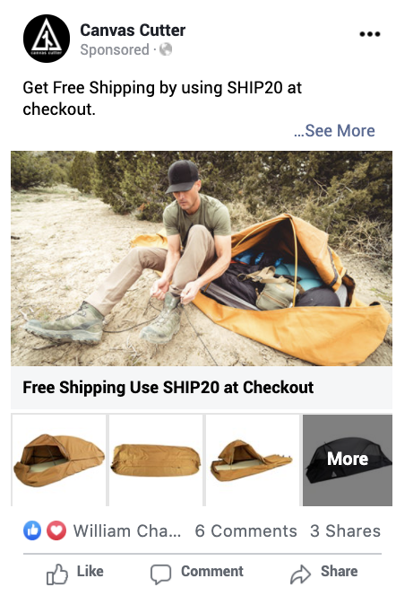 Facebook Ad With Call To Action